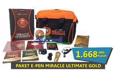 Paket Al Quran Syaamil Miracle Ultimate E Pen Gold